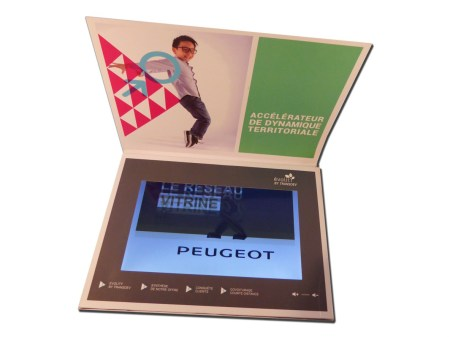 Plaquette video format A4 ecran LCD 10