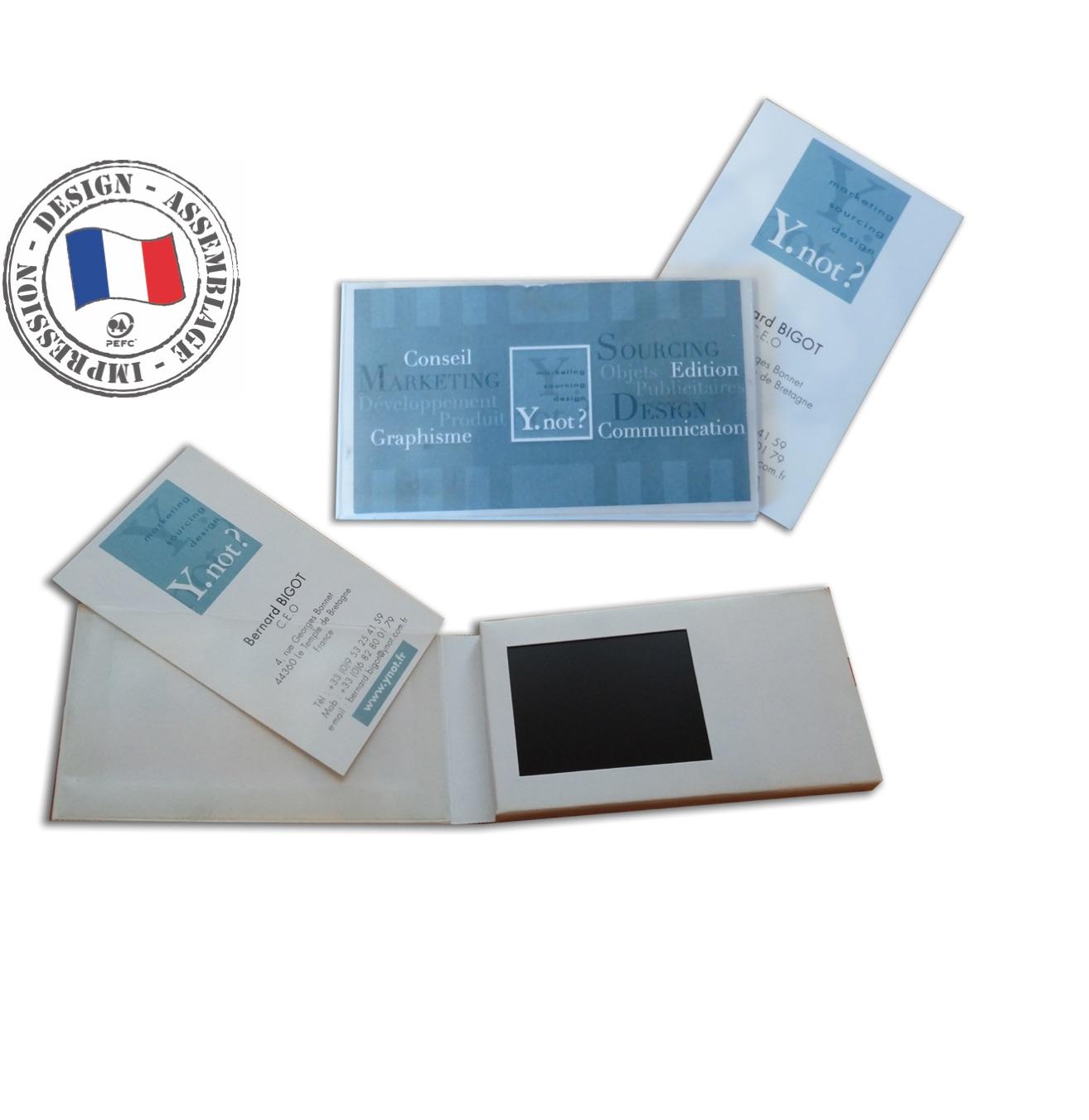 Carte De Visite Vido Ecran 24 MOVI BOOK Assembl En France
