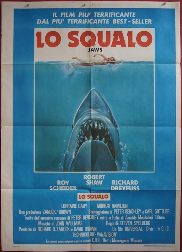 jaws original italian movie poster steven spielberg roy scheider