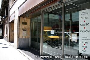 A Bout de Souffle film location: the old office of the International Herald Tribune, rue de Berri, Paris