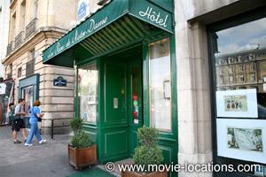 >A Bout de Souffle film location: Les Rives de Notre Dame, quai St Michel, Paris