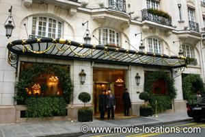 Midnight In Paris location: Hotel Le Bristol, rue du Faubourg St Honore, Paris