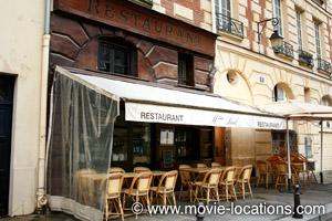 Midnight In Paris location: Restaurant Paul, rue Henri Robert, Place Dauphine, Paris