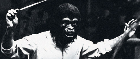 Jerry Goldsmith conducts Planet of the Apes