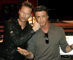 Brian Tyler and Sylvester Stallone