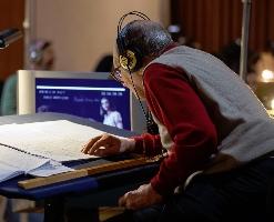 Ennio Morricone recording the score in Rome
