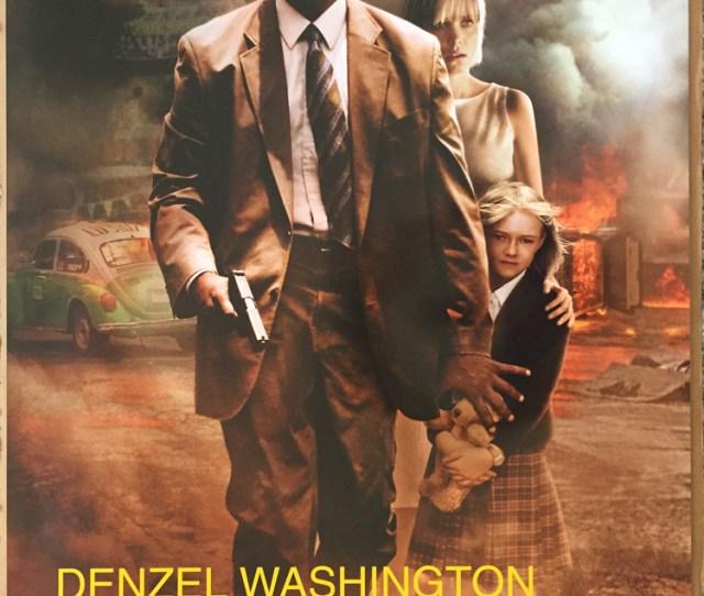 Details About Man On Fire Movie Poster 2 Sided Original Spanish 27x40 Denzel Washington