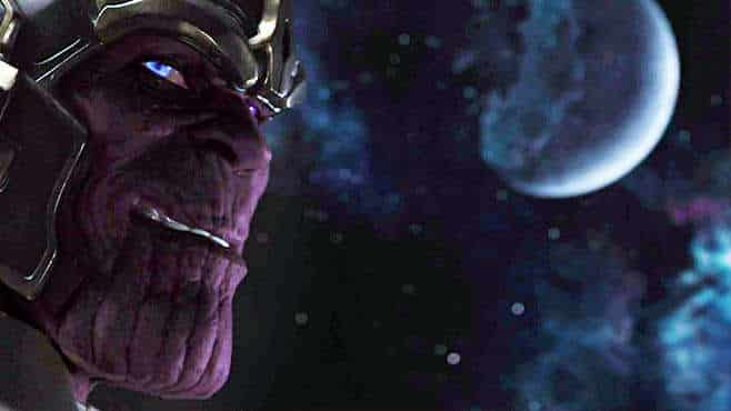 Purple guy at the end of Avengers
