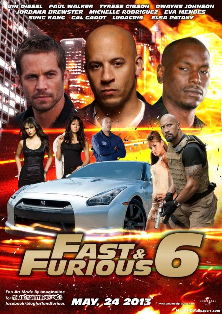 Girl With Chocolate Wallpaper Fast And Furious 6 2013 Movie Hd Wallpapers