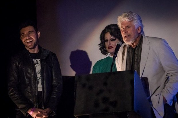 Actor Barry Bostwick (R) attends a screening of Rocky Horror Picture Show