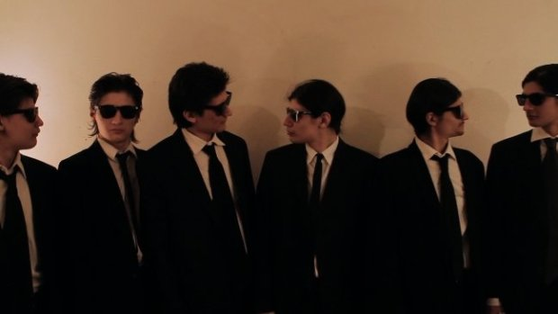 The Angulo brothers don Reservoir Dogs-esque outfits in The Wolfpack