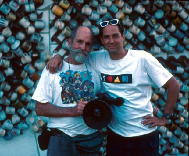 Les Blank (left) and his son, filmmaker Harrod Blank. Photograph by David Silberberg