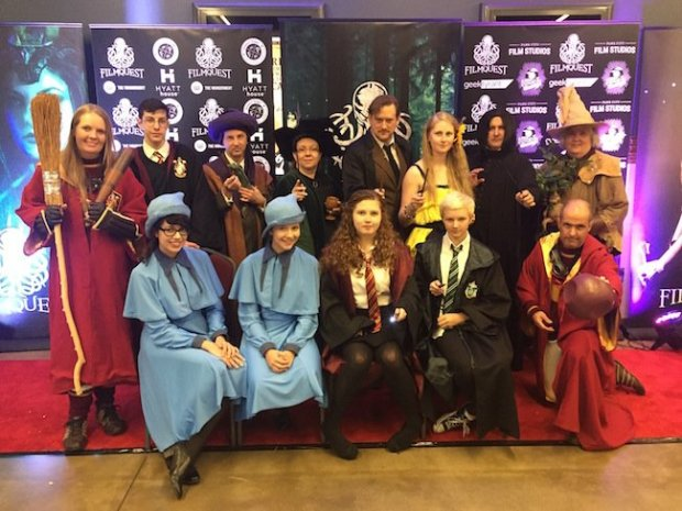 A gathering of Harry Potter cosplayers turned out Saturday for a evening of Harry Potter themed films, including Mudbloods, a documentary about a real-life Quidditch team from UCLA.