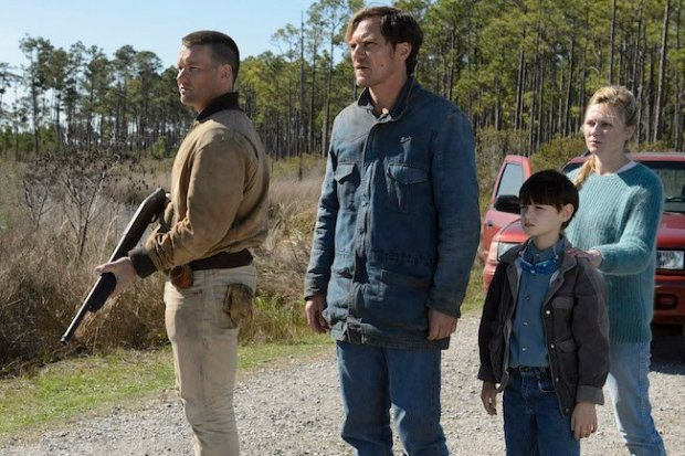 (L-R) Joel Edgerton, Shannon, Jaeden Lieberher and Kirsten Dunst in Midnight Special. Photograph by Ben Rothstein / Courtesy of Warner Bros. Pictures