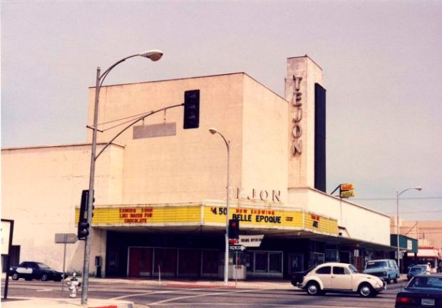 The Tejon Theater in Bakersfield, California was the Leagues' first theater, opened in 1994. They moved to Austin in 1997 to open the Alamo Drafthouse Theater Credit: Courtesy of Alamo Drafthouse Cinema