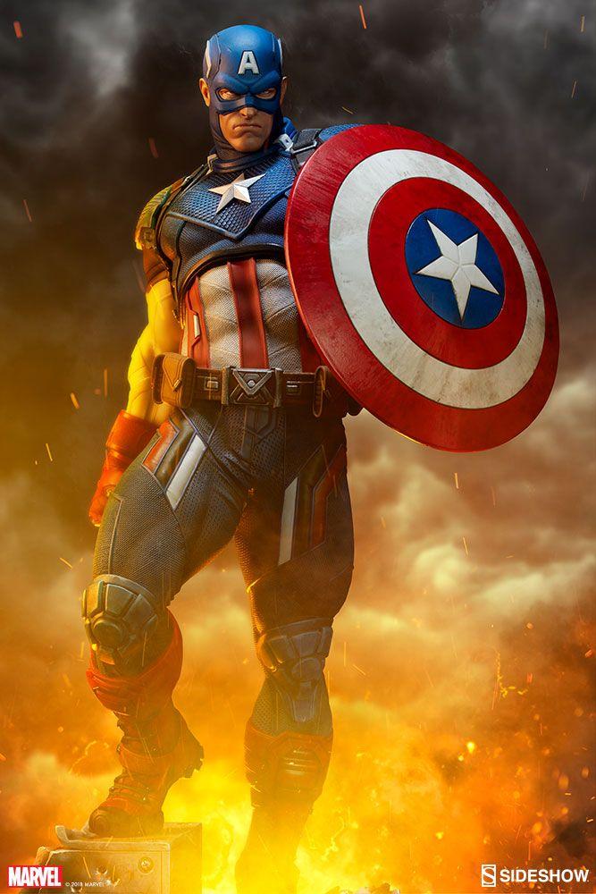 Marvel Comics - Captain America - Premium Format Figure Sideshow Collectibles Statue - Movie Mania
