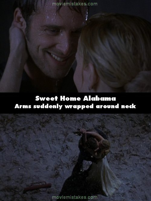 Whisper one of these famous movie love quotes. Sweet Home Alabama 2002 Movie Mistake Picture Id 21494