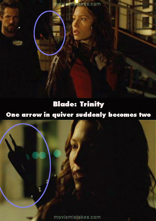 Blade Trinity 2004 movie mistakes goofs and bloopers