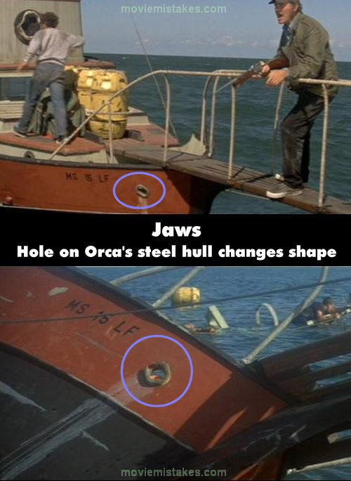 Jaws 1975 movie mistake picture ID 90635