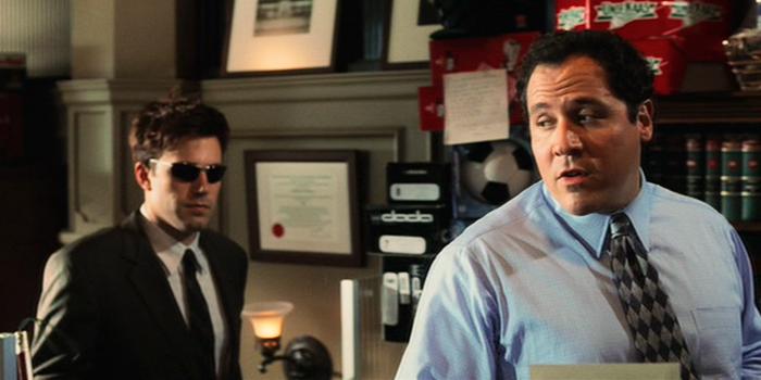 Ben Affleck en Jon Favreau in Daredevil