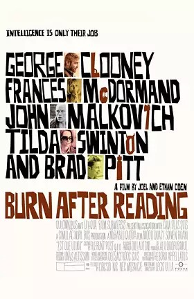 The Coen Brother's Burn After Reading poster