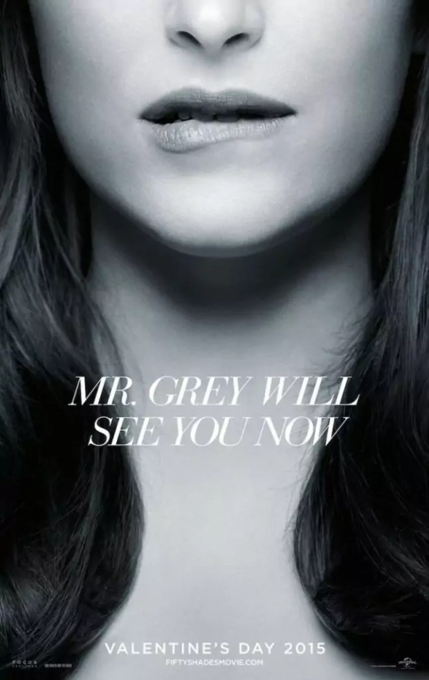 Pittige nieuwe poster van Fifty Shades of Grey