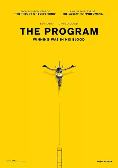 The Program teaser poster over Lance Armstrong