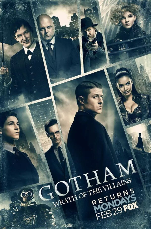 Gotham S2 Wrath of the Villians poster