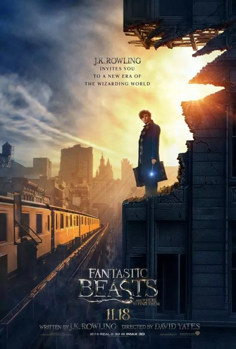 nieuwe fantastic beasts and where to find them poster met eddie redmayne