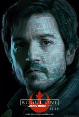Star Wars Rogue One karakterposter met Diego Luna als Captain Cassian Andor