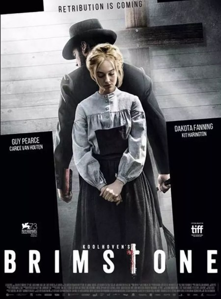 Brimstone poster met Dakota Fanning & Guy Pearce