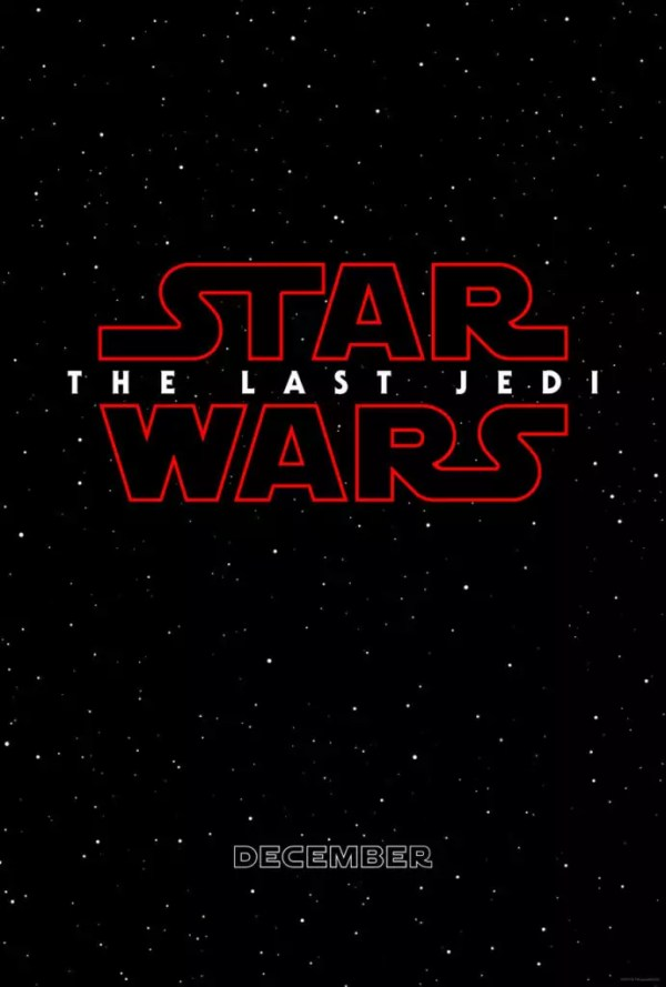 Eerste Star Wars 8 The Last Jedi poster
