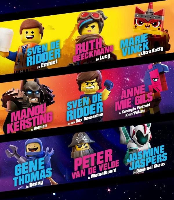Vlaamse stemmencast van De Lego 2 Film
