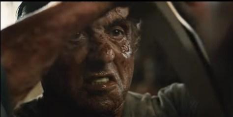 Een bebloede Sylvester Stallone in Rambo V: Last Blood