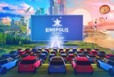 Kinepolis gaat deze zomer On Tour voor een buitengewone drive-in filmbeleving overdag