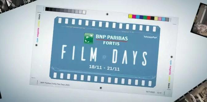 BNP Paribas Fortis Film Days verplaatst naar november 2020
