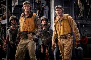 """Midway (2019)<center>  <img class=""""alignnone size-full wp-image-307"""" src=""""https://www.moviereviews.us/wp-content/uploads/2018/09/IMG_2353-3.jpg"""" alt=""""Two and Half Stars"""" width=""""107"""" height=""""21"""" /></center>"""