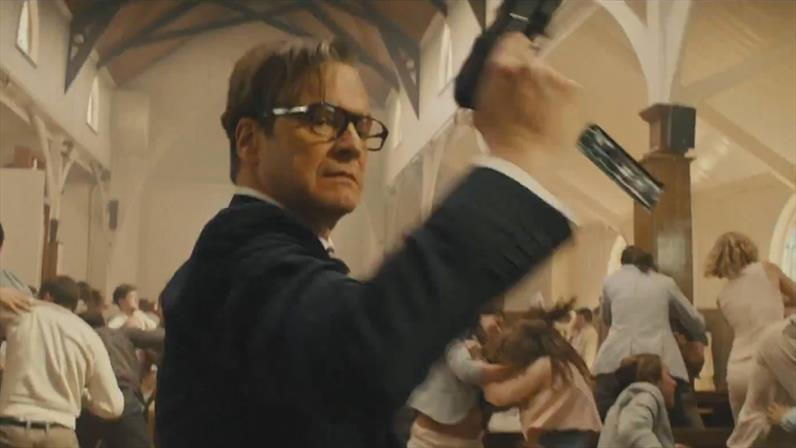Image result for kingsman church scene