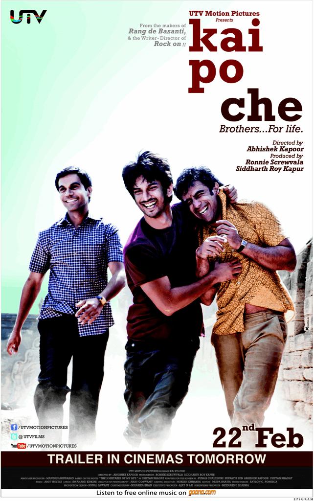 Kai Po Che New Poster 2013