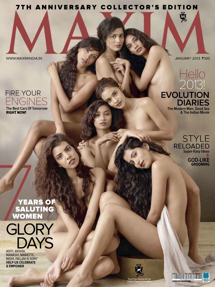 Upcoming Models Photo Shoot for Maxim India January 2013