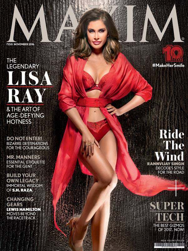 Lisa Ray On Maxim India Magazine November 2016 Cover