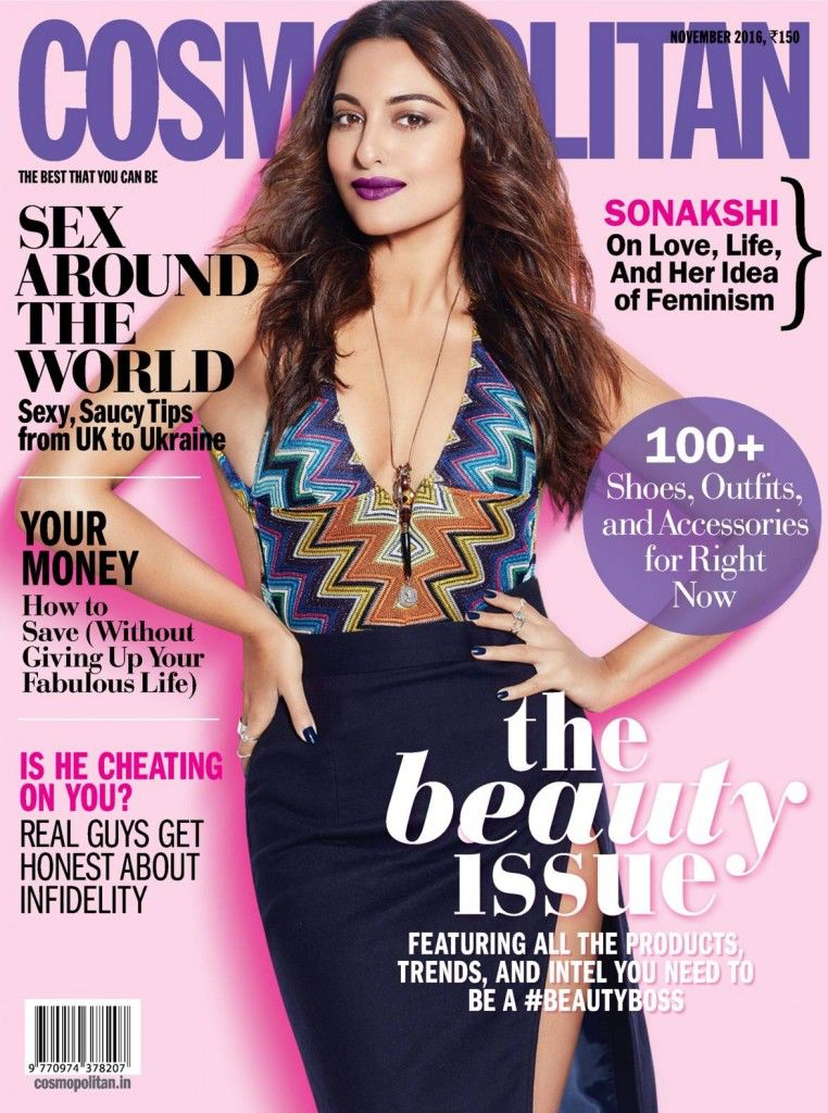 Sonakshi Sinha Cosmopolitan Shoot India Magazine November 2016 Cover