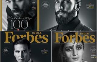 Akshay, Virat, Sonam, Ranveer, Alia on the cover of Forbes India