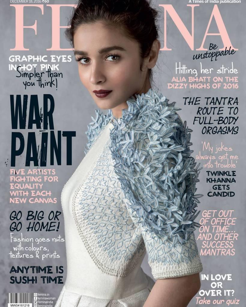 Alia Bhatt Features On The Cover Of Femina December 2016 Issue