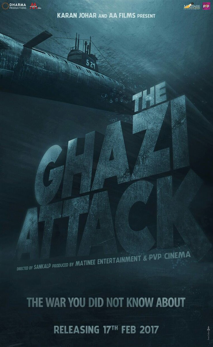 The Ghazi Attack - First Poster of India's First Underwater Film