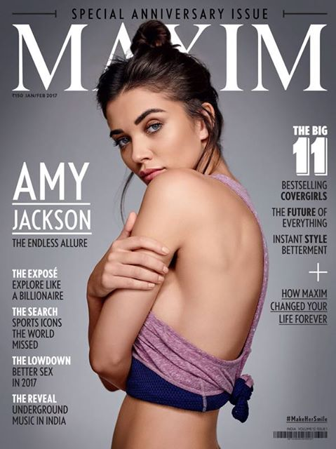 Amy Jackson - Cover Page of Maxim India January 2017