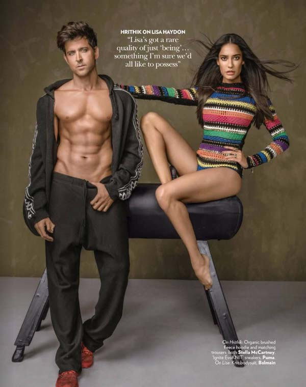 Hrithik Roshan & Lisa Haydon Vogue India Photoshoot January 2017 Picture 4