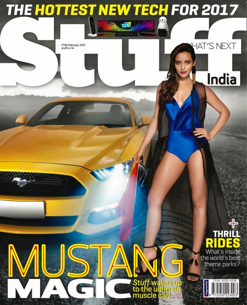 Neha Sharma On The Cover Of Stuff India Magazine February 2017 Issue