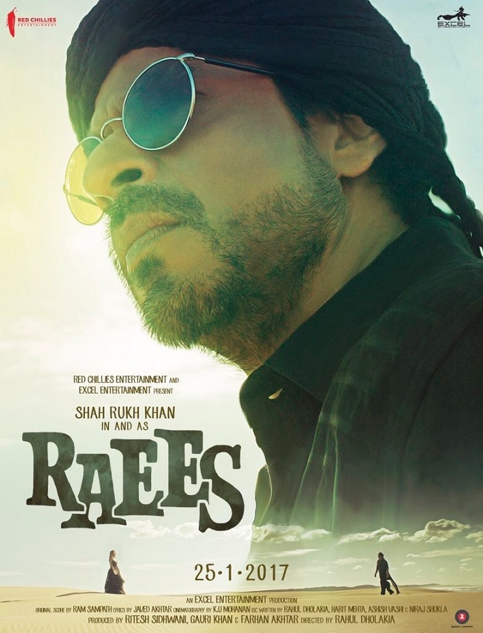 Raees Poster 4 - India Release 2017