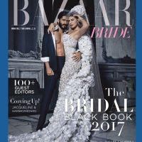 Jacqueline & Harshvardhan on the cover of Harper's Bazaar Bride India Magazine February 2017